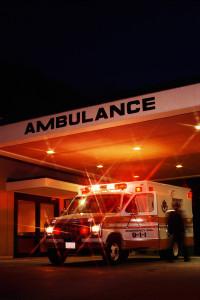 Ambulance at Emergency Entrance